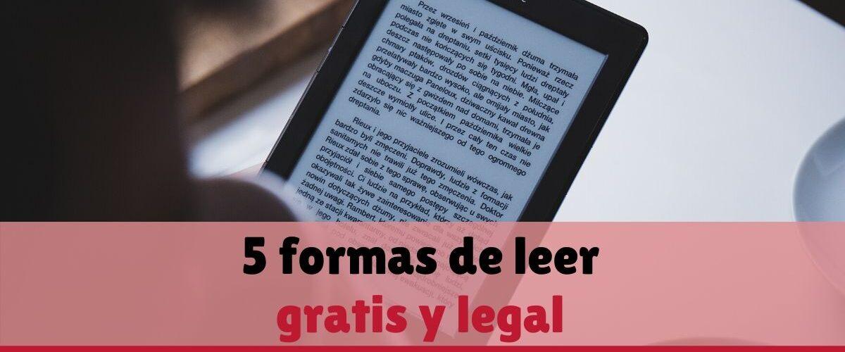 leer gratis y legal
