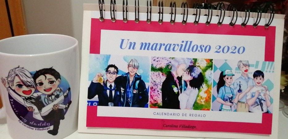 Al comisionar art pude regalar un calendario e imagenes para imprimir tazas.